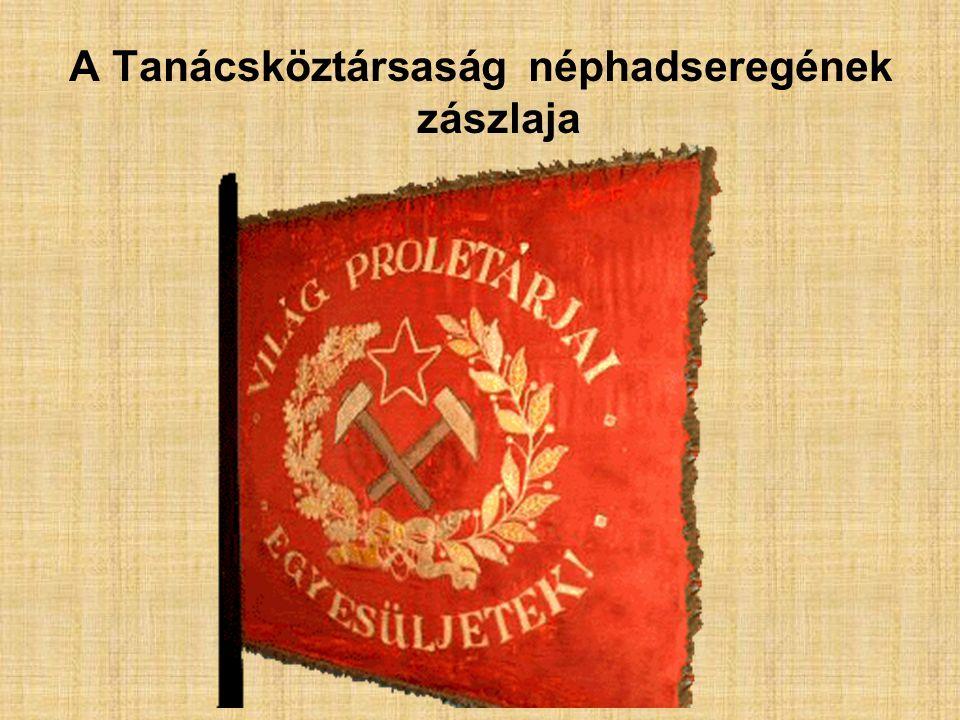 A Tanácsköztársaság néphadseregének zászlaja