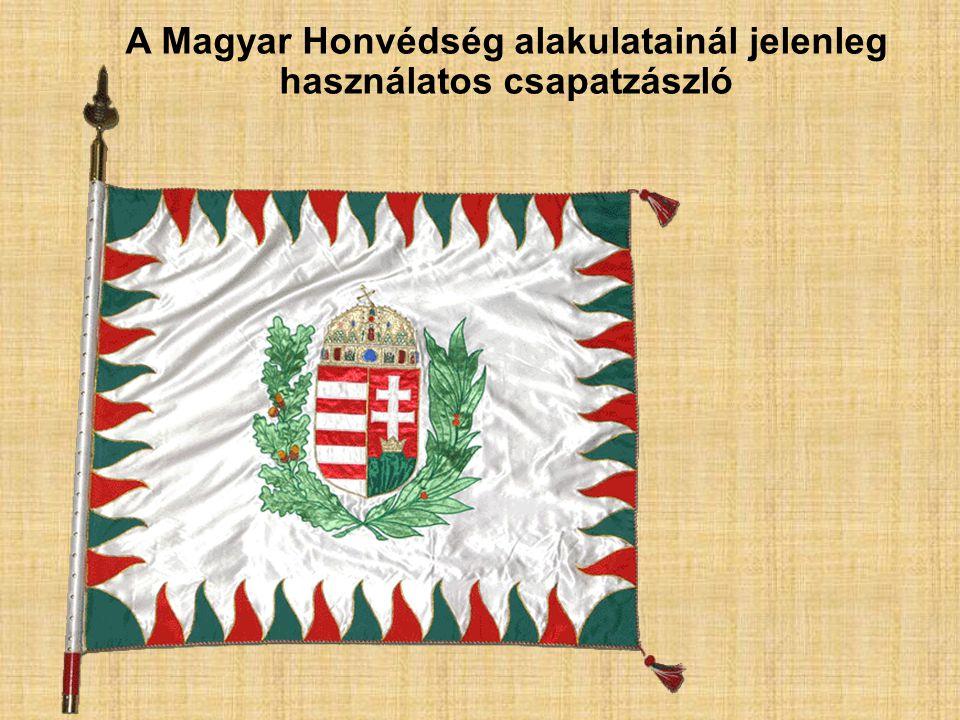 A Magyar Honvédség alakulatainál jelenleg használatos csapatzászló