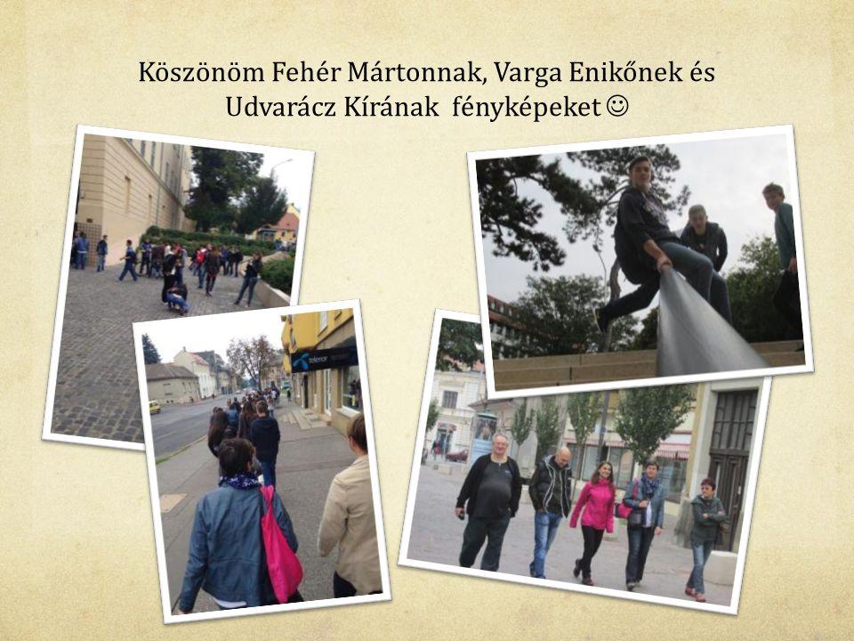 Köszönöm Fehér Mártonnak, Varga Enikőnek és Udvarácz Kírának fényképeket