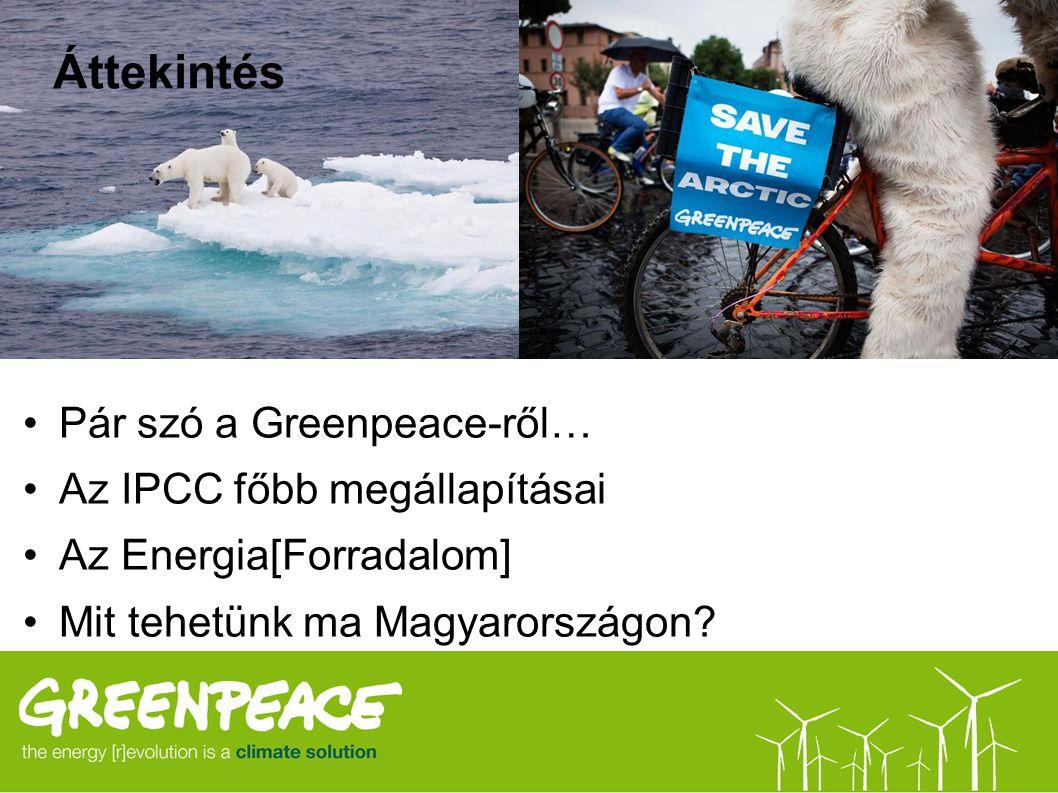 Áttekintés Pár szó a Greenpeace-ről… Az IPCC főbb megállapításai Az Energia[Forradalom] Mit tehetünk ma Magyarországon?