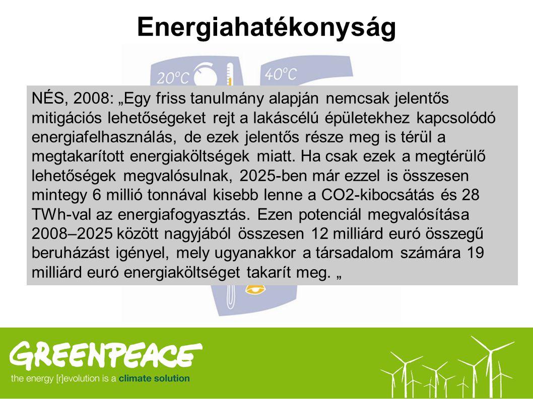 """Energiahatékonyság NÉS, 2008: """"Egy friss tanulmány alapján nemcsak jelentős mitigációs lehetőségeket rejt a lakáscélú épületekhez kapcsolódó energiafe"""