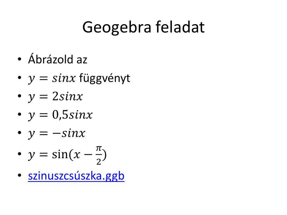 Geogebra feladat