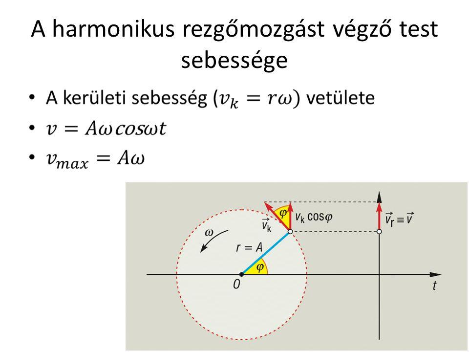 A harmonikus rezgőmozgást végző test sebessége