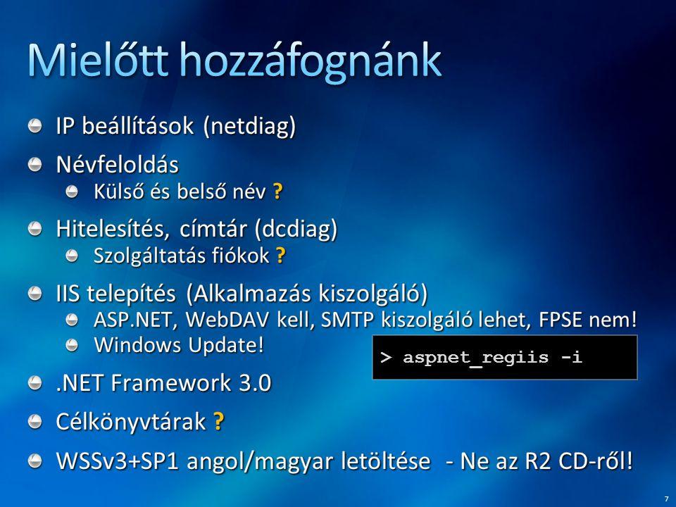 68 stsadm -o backup -showtree Farm\ [SharePoint_Config]\ Windows SharePoint Services - webalkalmazás\ SharePoint - 80\ WSS_Content_Intranet\ [WSS_Administration]\ [Webalkalmazás]\ SharePoint_AdminContent_ed73cab8-6d55-4f94- 86a0-de4bcb96e955\ Windows SharePoint Services - keresés\ [Keresőszolgáltatás-példány]\ [WSS_Search]\ [ ] - item cannot be selected.