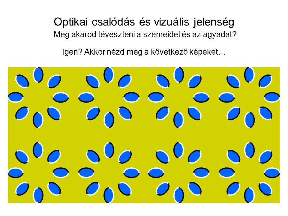 Optikai csalódás és vizuális jelenség Meg akarod téveszteni a szemeidet és az agyadat? Igen? Akkor nézd meg a következő képeket…