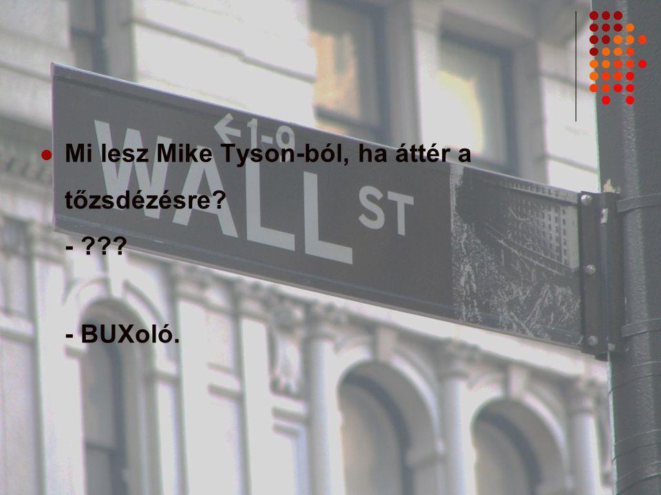 Mi lesz Mike Tyson-ból, ha áttér a tőzsdézésre? - ??? - BUXoló.