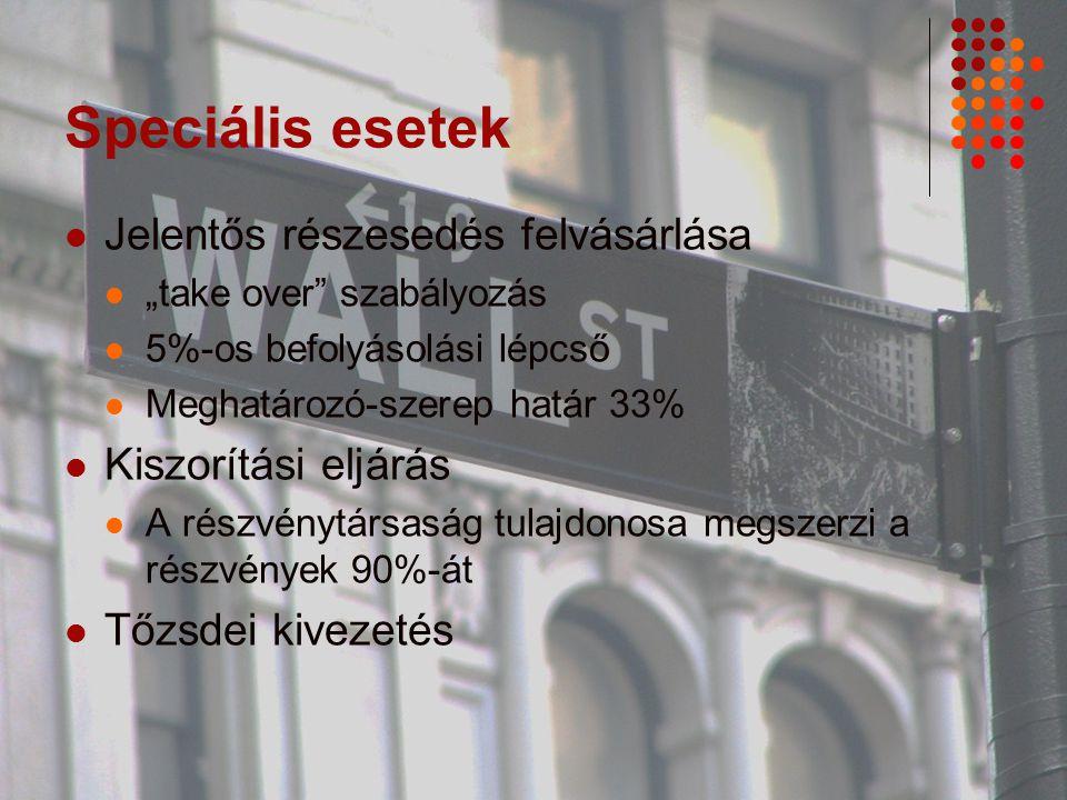 """TŐZSDE Nyilvánosság -> ellenőrzés """"Parketten -> interneten Vendorok = hivatalos adatszolgáltatók – által nyújtott elektronikus szolgáltatások Az adatok mindenki számára nyilvánosak"""