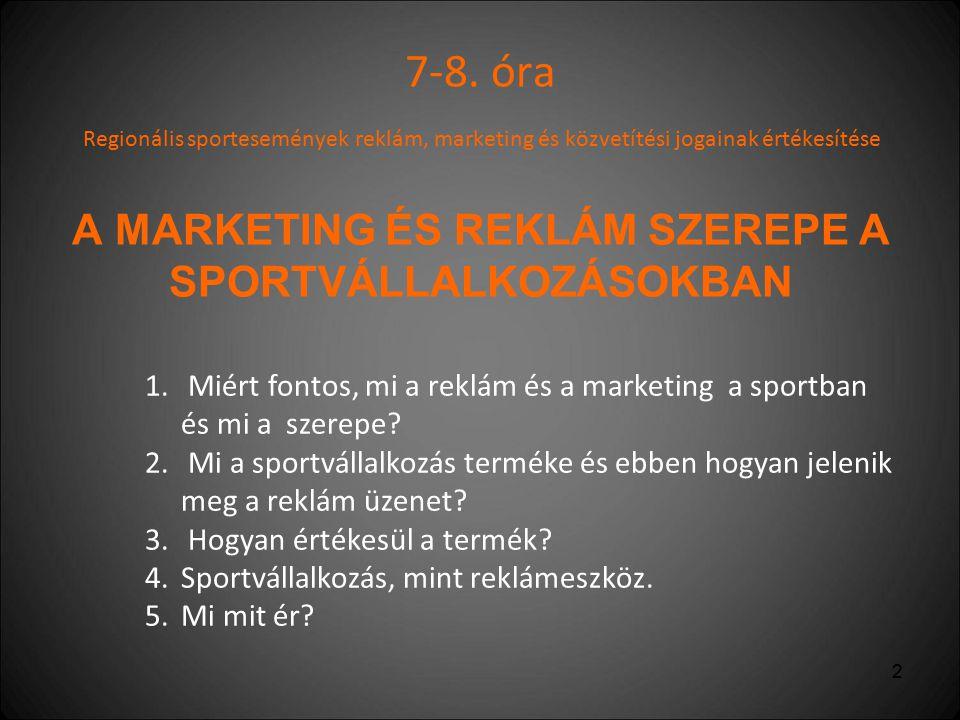 3 1.Miért fontos, mi a reklám és a marketing a sportban és mi a szerepe.
