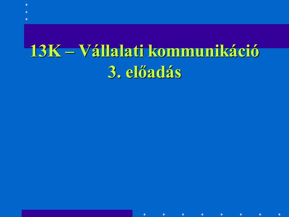 Vállalati kommunikáció KLASSZIKUS KOMMUNIKÁCIÓS TECHNIKÁK, MÓDSZEREK