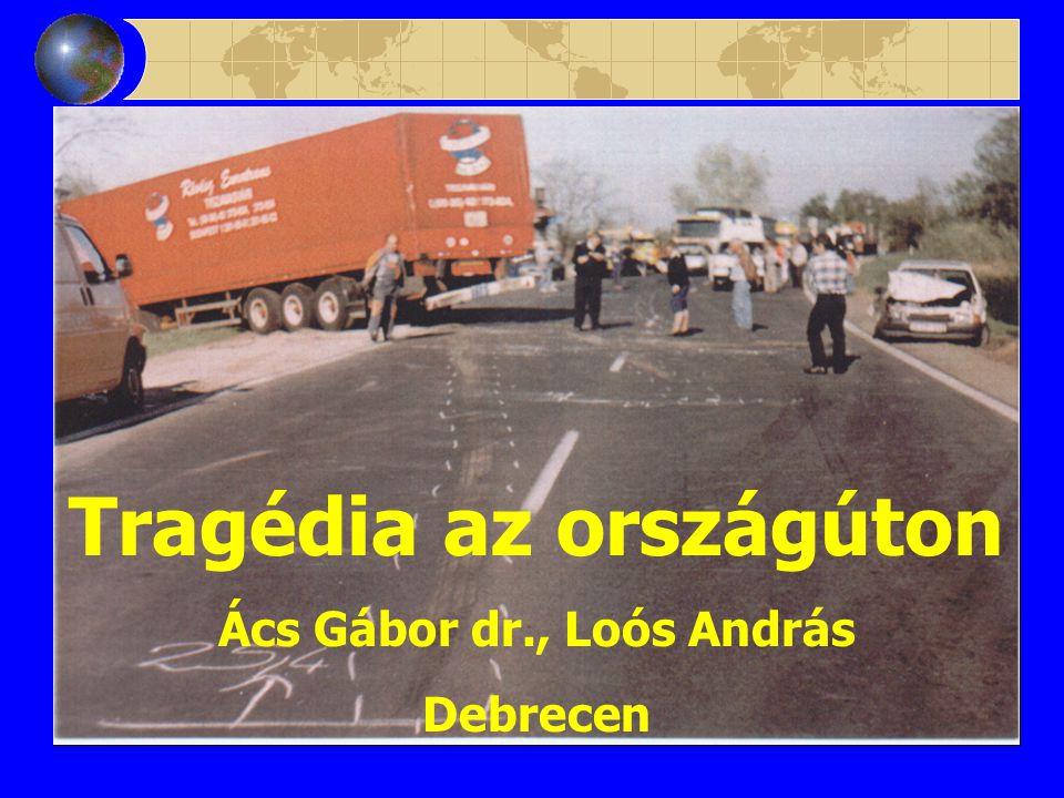 Tragédia az országúton Ács Gábor dr., Loós András Debrecen
