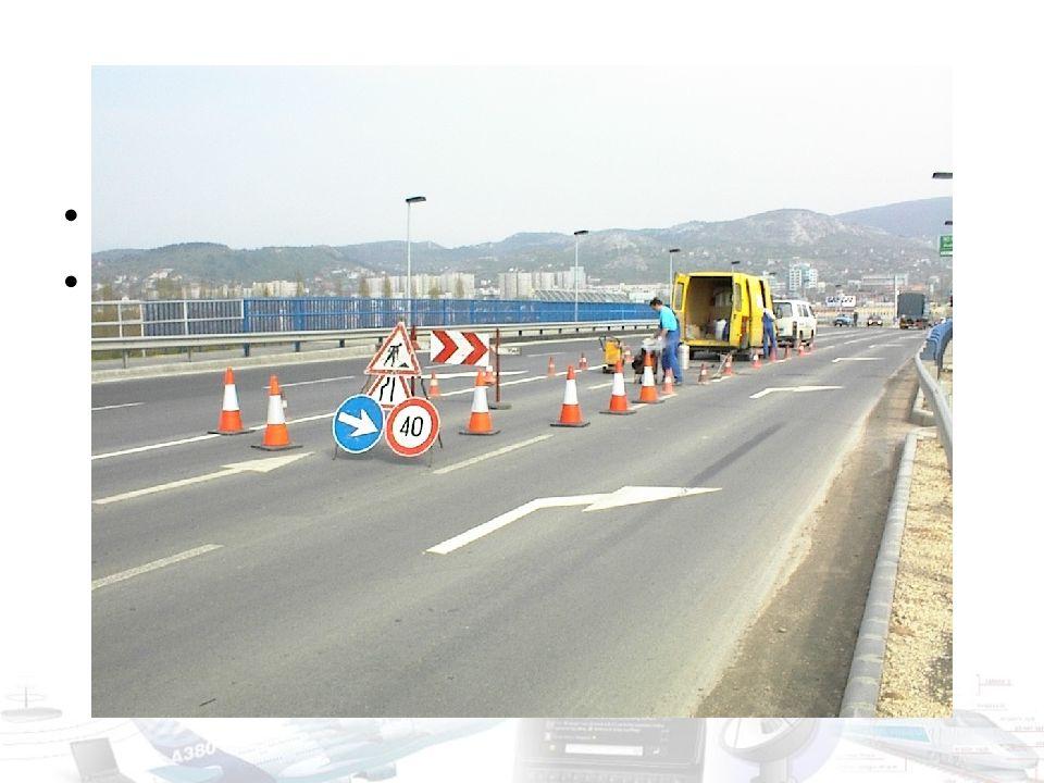 Forgalmi adatgyűjtés – folyamatos I. Dinamikus forgalomszabályozás céljából Hurokdetektorok – Számlálás + foglaltság – Forgalmi irányító lámpák szabál