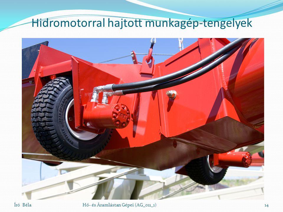 Író BélaHő- és Áramlástan Gépei (AG_011_1)14 Hidromotorral hajtott munkagép-tengelyek
