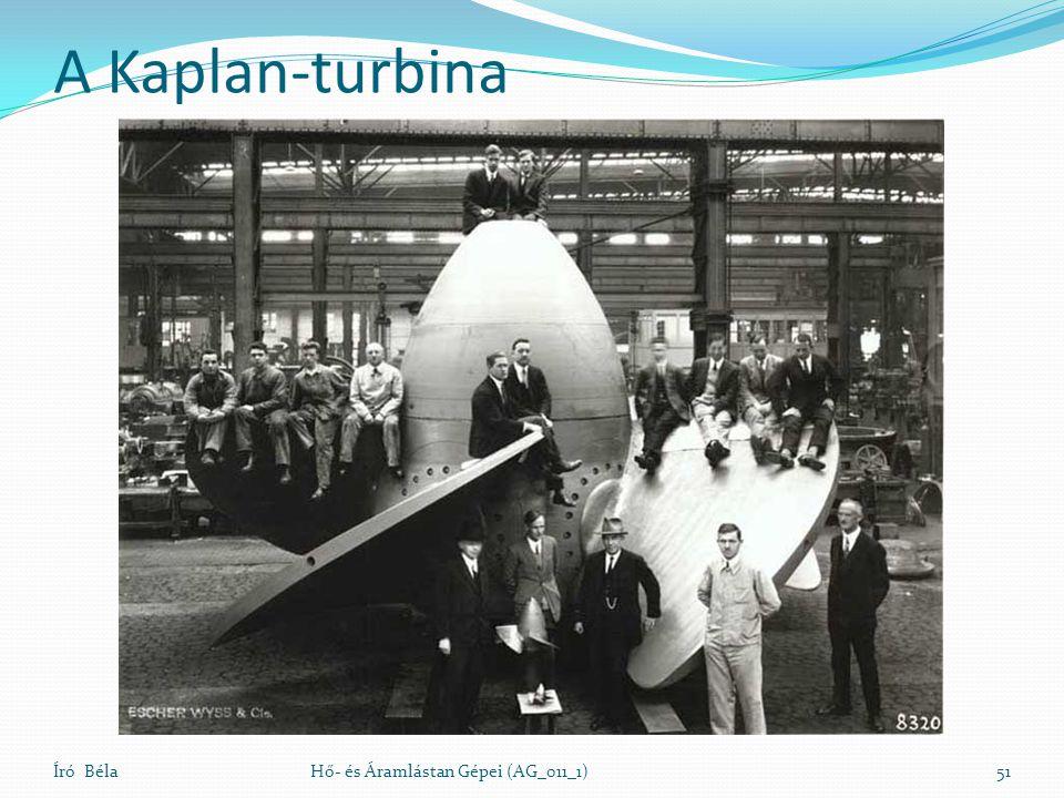 A Kaplan-turbina Író BélaHő- és Áramlástan Gépei (AG_011_1)51