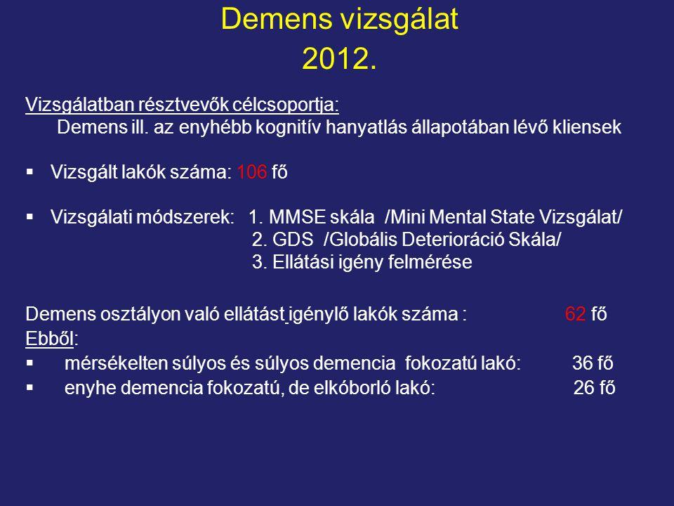Demens vizsgálat 2012.
