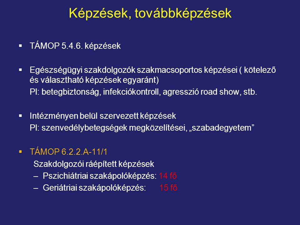 Képzések, továbbképzések  TÁMOP 5.4.6.