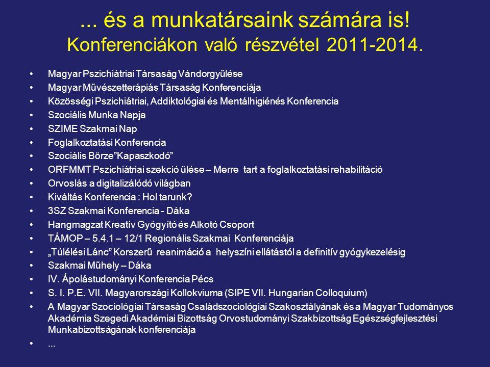 ...és a munkatársaink számára is. Konferenciákon való részvétel 2011-2014.