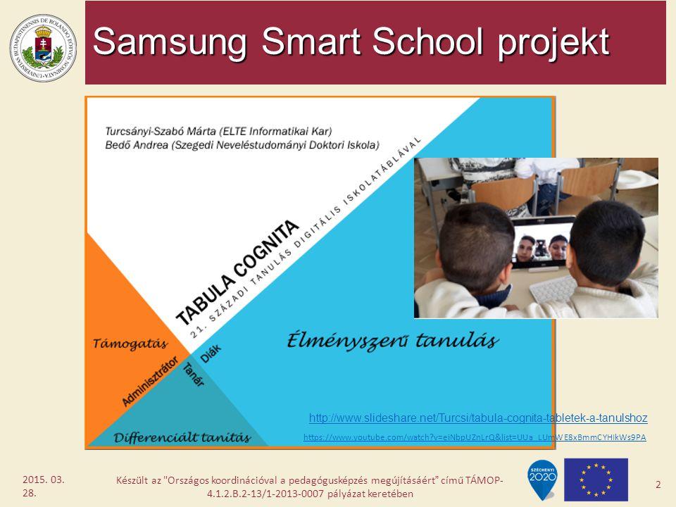 Samsung Smart School projekt Készült az