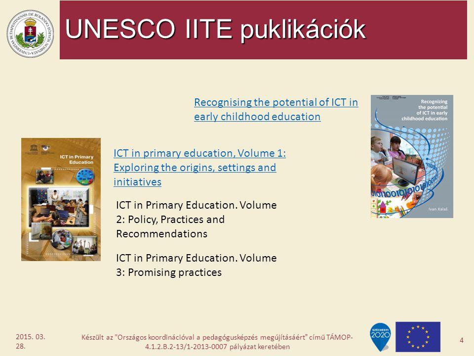 UNESCO IITE puklikációk Készült az