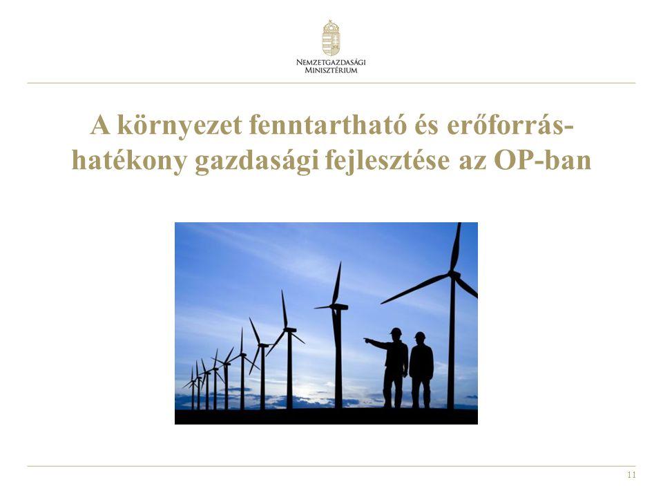11 A környezet fenntartható és erőforrás- hatékony gazdasági fejlesztése az OP-ban