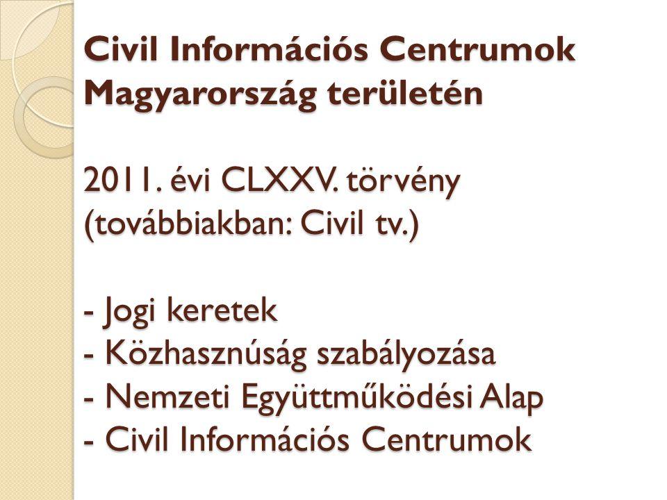 Civil Információs Centrumok Magyarország területén 2011.