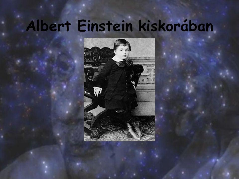 Albert Einstein kiskorában