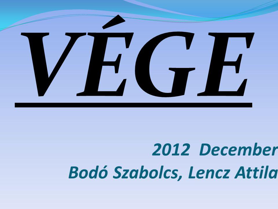 2012 December Bodó Szabolcs, Lencz Attila VÉGE