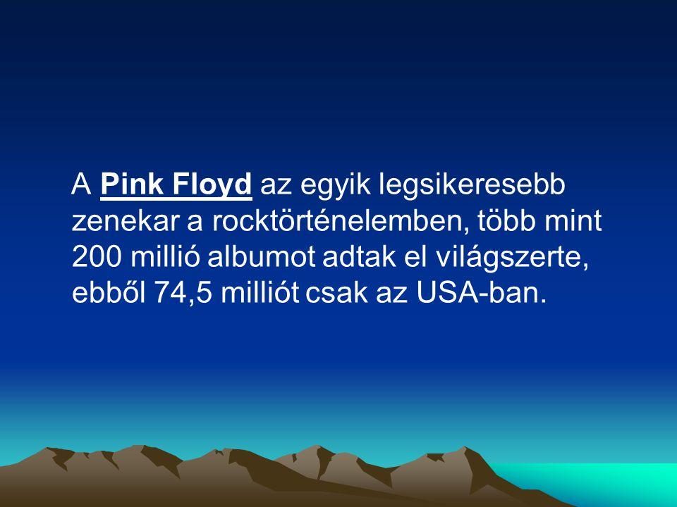 A Pink Floyd az egyik legsikeresebb zenekar a rocktörténelemben, több mint 200 millió albumot adtak el világszerte, ebből 74,5 milliót csak az USA-ban.