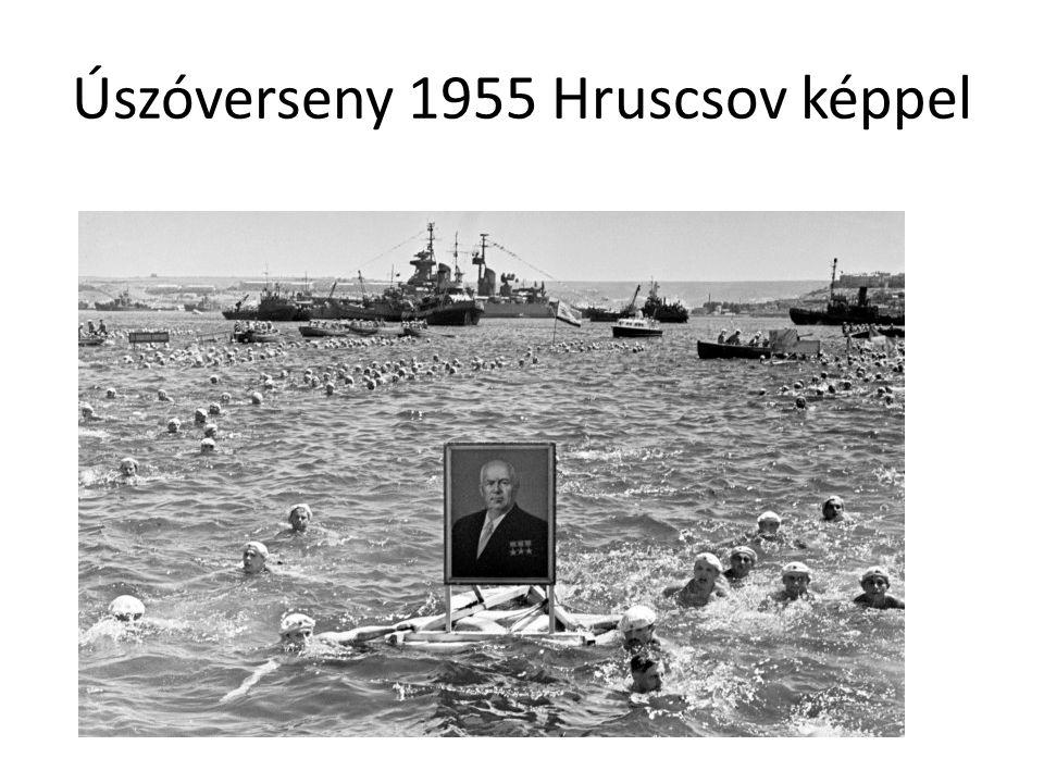 Úszóverseny 1955 Hruscsov képpel