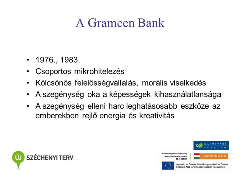A Grameen Bank 1976., 1983.