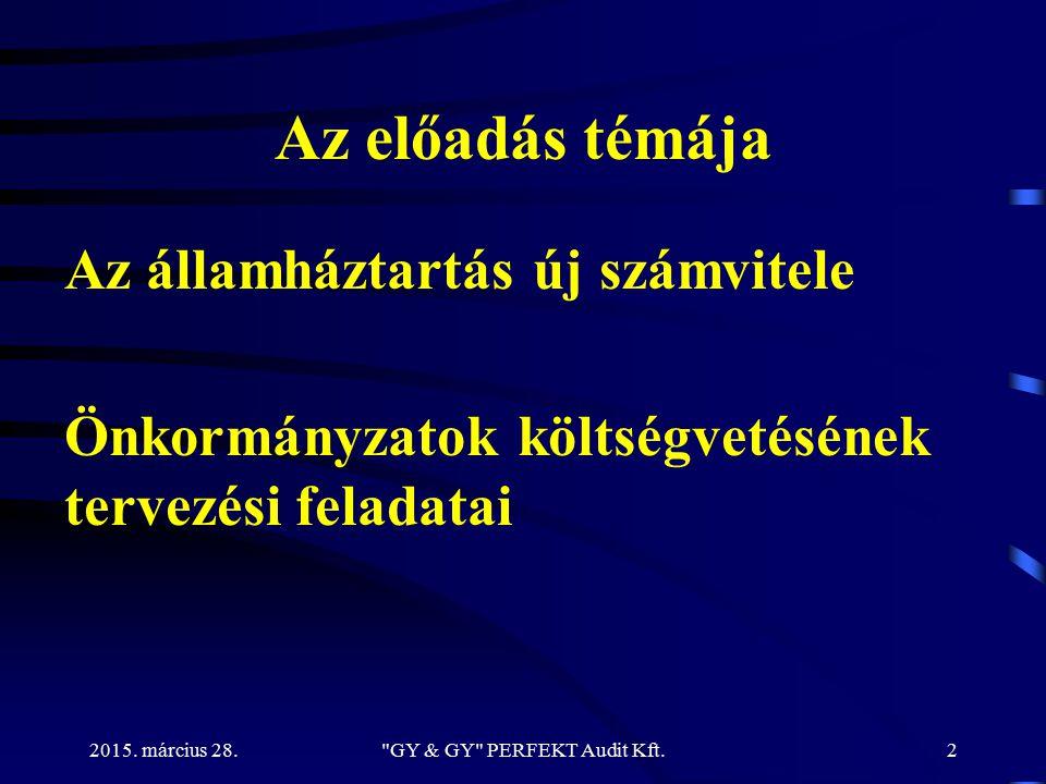 2015.március 28. 1. Aktuális számviteli kérdések 1.1.