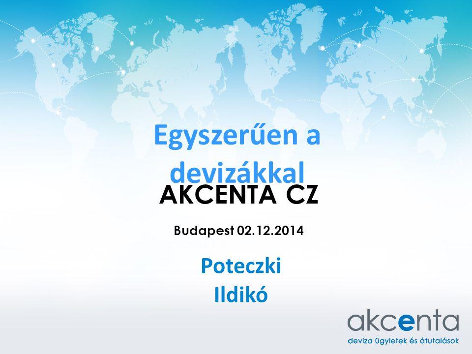 Egyszerűen a devizákkal Poteczki Ildikó AKCENTA CZ Budapest 02.12.2014
