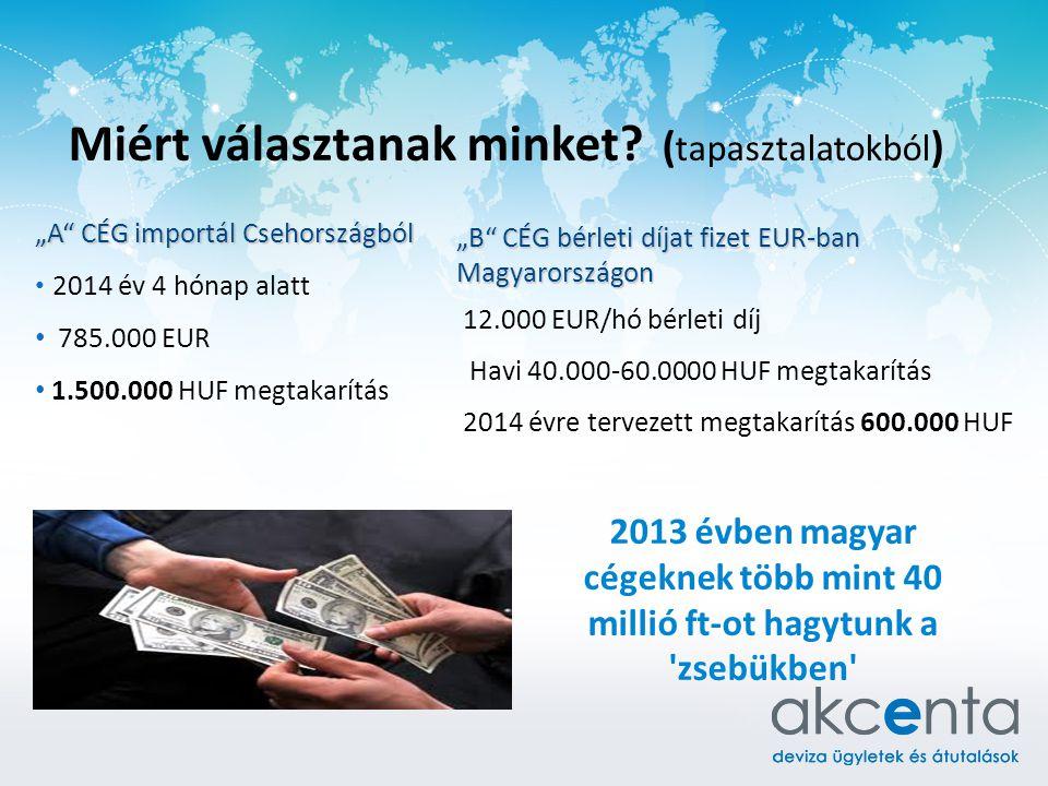 """Miért választanak minket? ( tapasztalatokból ) """"A"""" CÉG importál Csehországból 2014 év 4 hónap alatt 785.000 EUR 1.500.000 HUF megtakarítás 2013 évben"""