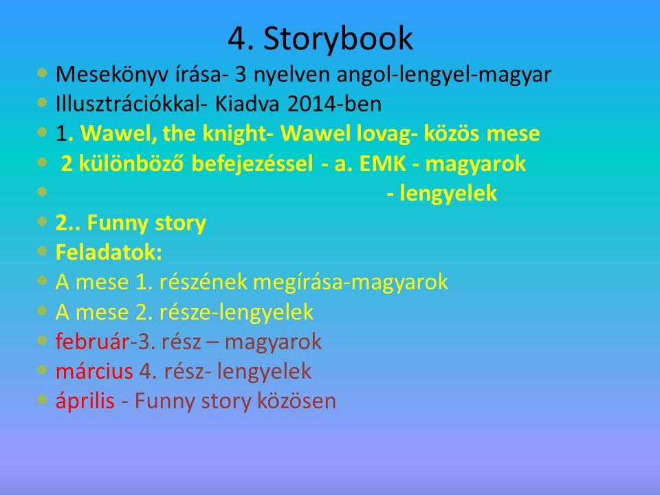 4.Storybook Mesekönyv írása- 3 nyelven angol-lengyel-magyar Illusztrációkkal- Kiadva 2014-ben 1.