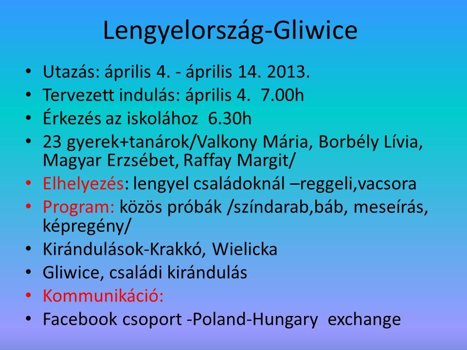 Lengyelország-Gliwice Utazás: április 4.- április 14.