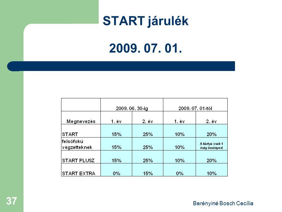 Berényiné Bosch Cecília 37 START járulék 2009. 07. 01.