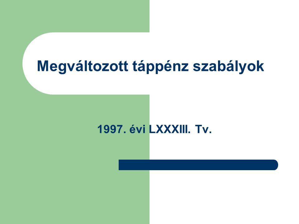 Megváltozott táppénz szabályok 1997. évi LXXXIII. Tv.