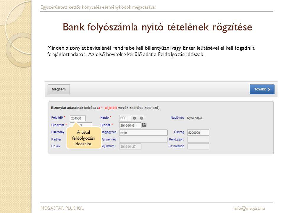 Könyvelési napló listaképe MEGASTAR PLUS Kft.