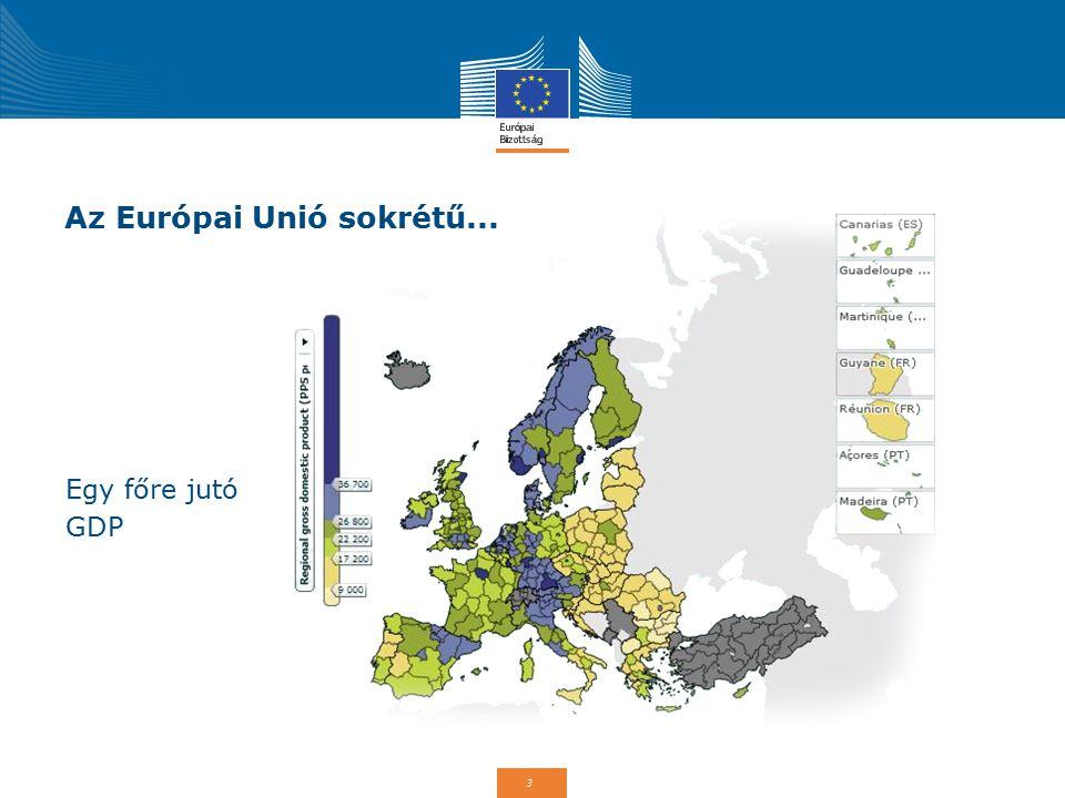 3 Az Európai Unió sokrétű... Egy főre jutó GDP