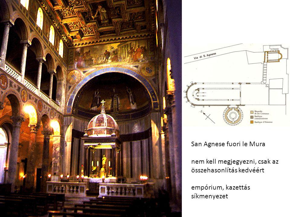 San Agnese fuori le Mura nem kell megjegyezni, csak az összehasonlítás kedvéért empórium, kazettás síkmenyezet