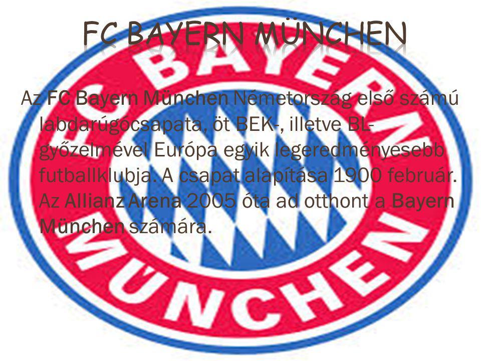 Az FC Bayern München Németország első számú labdarúgócsapata, öt BEK-, illetve BL- győzelmével Európa egyik legeredményesebb futballklubja.