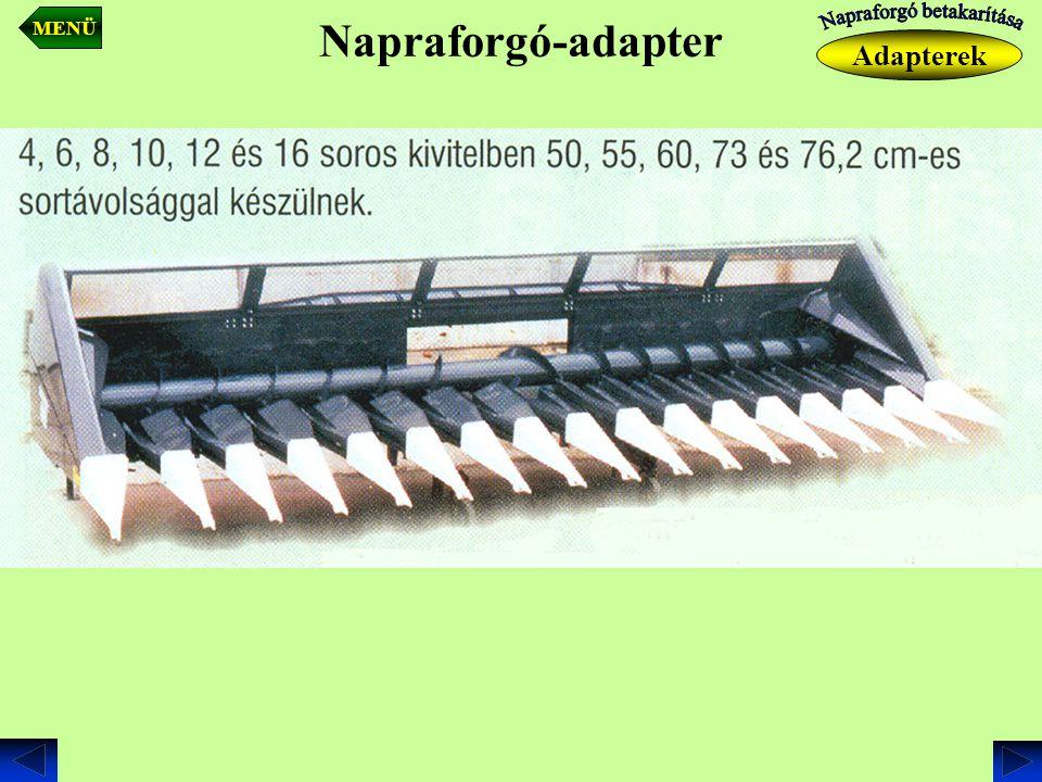 Napraforgó-adapter Adapterek MENÜ