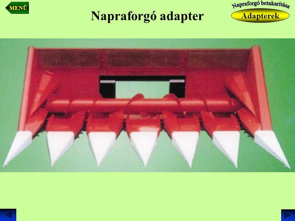 Napraforgó adapter Adapterek MENÜ