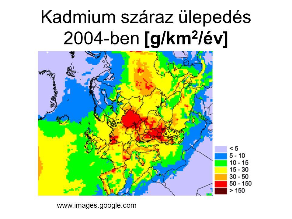 Kadmium száraz ülepedés 2004-ben [g/km 2 /év] www.images.google.com