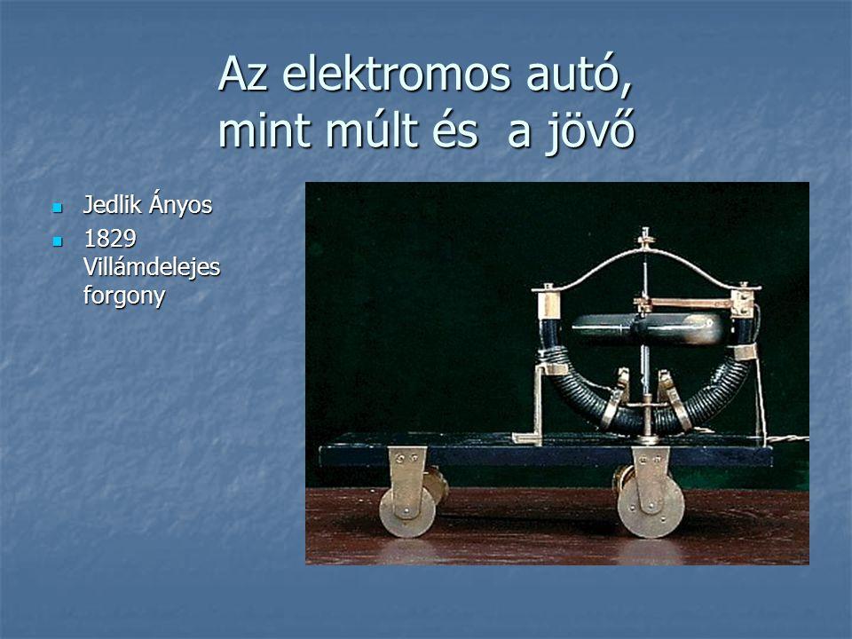 Az elektromos autó, mint múlt és a jövő Jedlik Ányos Jedlik Ányos 1829 Villámdelejes forgony 1829 Villámdelejes forgony