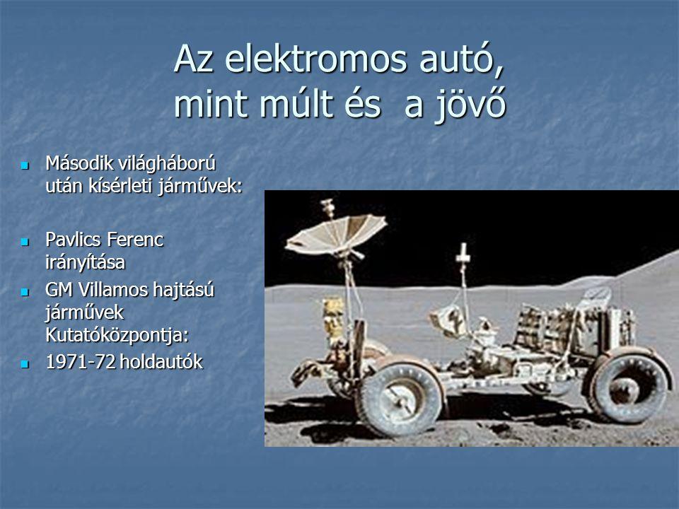 Második világháború után kísérleti járművek: Második világháború után kísérleti járművek: Pavlics Ferenc irányítása Pavlics Ferenc irányítása GM Villa