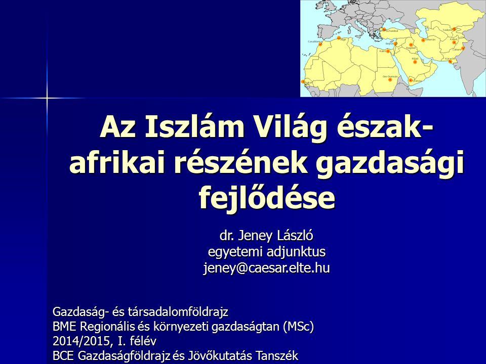 22 Az Iszlám Világ fogalma, lehatárolása Fő jellegzetessége: Fő jellegzetessége: –Iszlám vallás dominanciája (zsidók, keresztények is) Fogalmi különbségek Fogalmi különbségek –Iszlám közösségek a Föld országaiban (tágabb) – 1,5 mrd (D-, DK-Ázsia, Európa is) –Iszlám Világ – 850 mó (világ 12%, de muszlimok fele) –Arab Világ (szűkebb) Iszlám világ: 25 mó km 2 (17%)  VR1 Iszlám világ: 25 mó km 2 (17%)  VR1