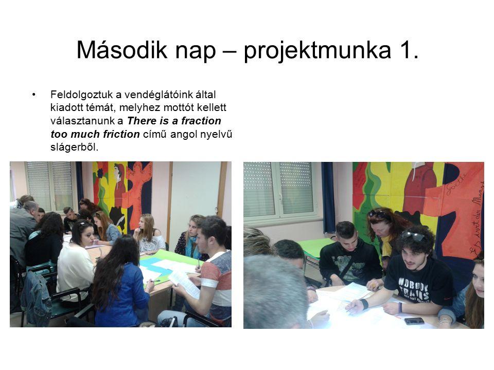 Második nap – projektmunka 1.