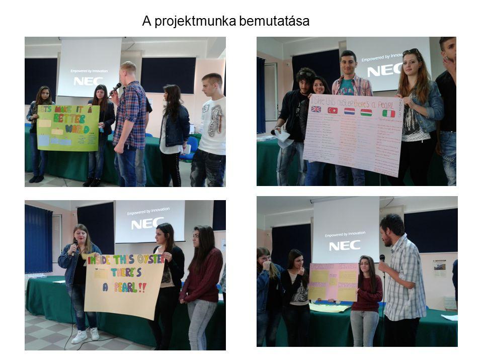 A projektmunka bemutatása