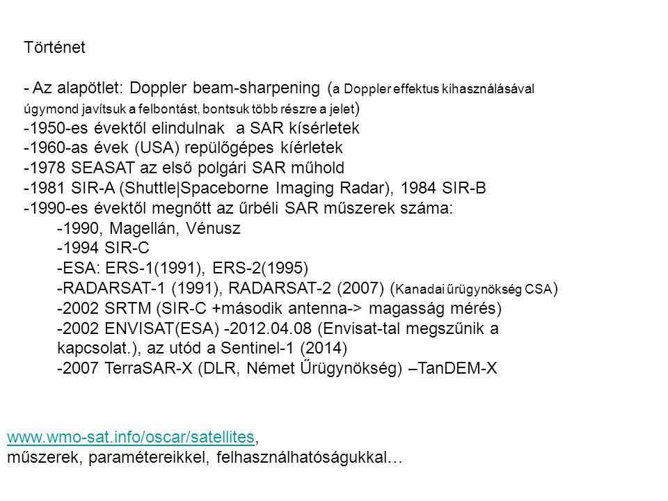 Történet - Az alapötlet: Doppler beam-sharpening ( a Doppler effektus kihasználásával úgymond javítsuk a felbontást, bontsuk több részre a jelet ) -19
