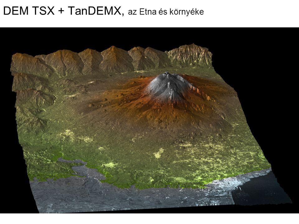 DEM TSX + TanDEMX, az Etna és környéke